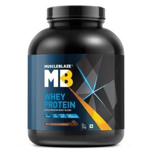 MuscleBlaze Whey protein powder 2.2 lb Chocolate