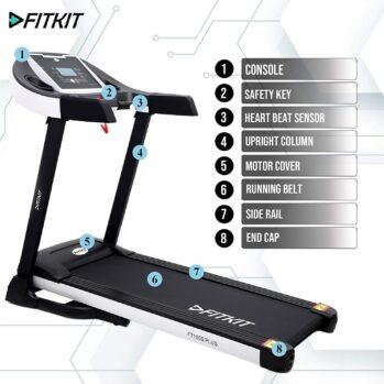 Fitkit FT100S Plus Series 1.75HP (3.25HP Peak) Motorized Treadmill