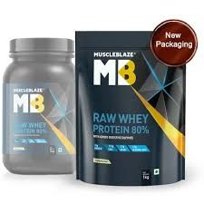 MuscleBlaze Raw Whey Protein Concentrate (Unflavoured)