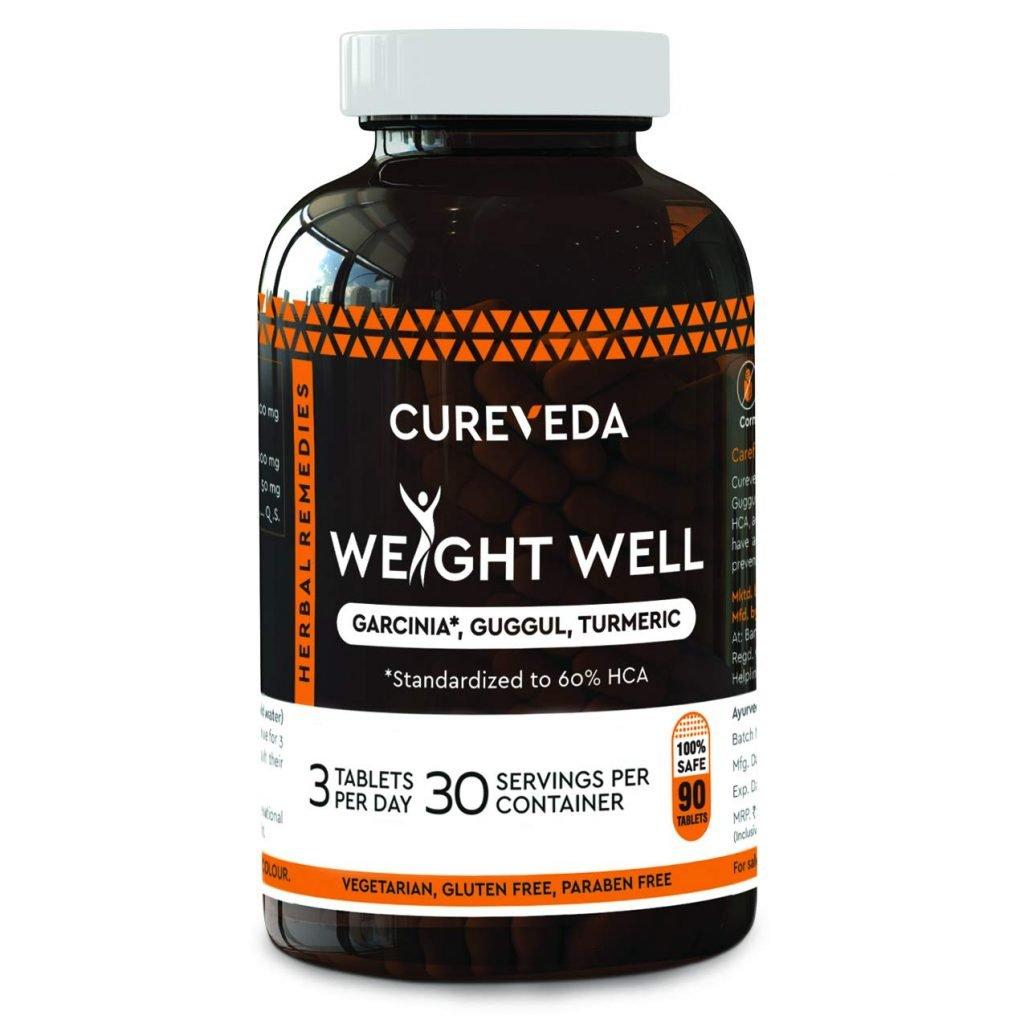 Cureveda™ Herbal Weight Well Natural Garcinia Cambogia supplement top 5 supplements for weight loss 2021