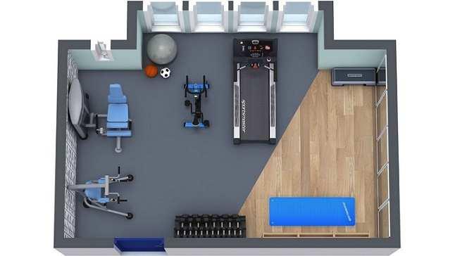 how to make a home gym with no money