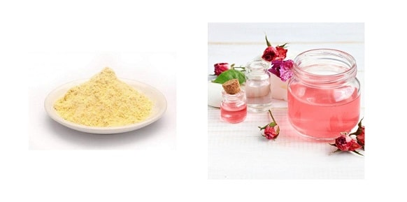 besan and rosewater remove scars naturally from face permanently