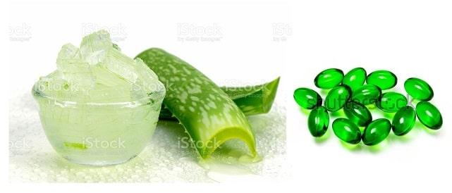 Aloe vera gel + vitamin E dark circles on eye with natural remedies